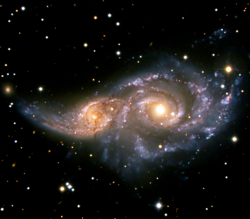 galaxies colliding
